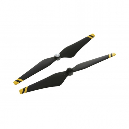 Набор пропеллеров 9450, черные с желтыми полосами (пласт.хаб) для Phantom 3