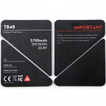 Изолирующие наклейки на аккумулятор TB48 для Inspire 1 (Part 51)