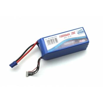 Аккумулятор Pulsar Li-pol 22.2V 10000mAh, 25C, 6s2p, EC5