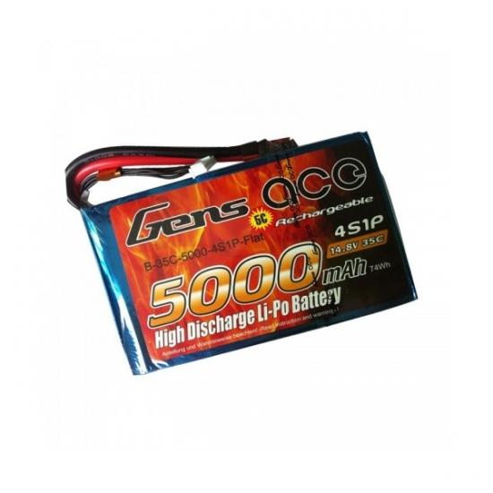 Аккумулятор Gens ACE TATTU LiPo 5000 мАч 14.8 В 35 C 4S1P - XT60
