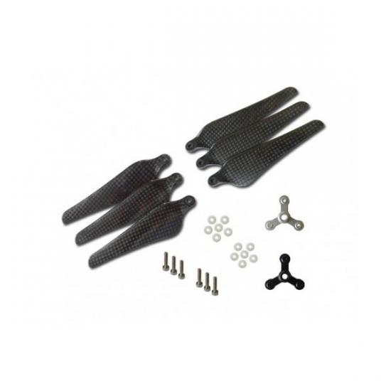 Трехлопастные карбоновые пропеллеры 9443 (MTCP9443F3) для Phantom 2/3